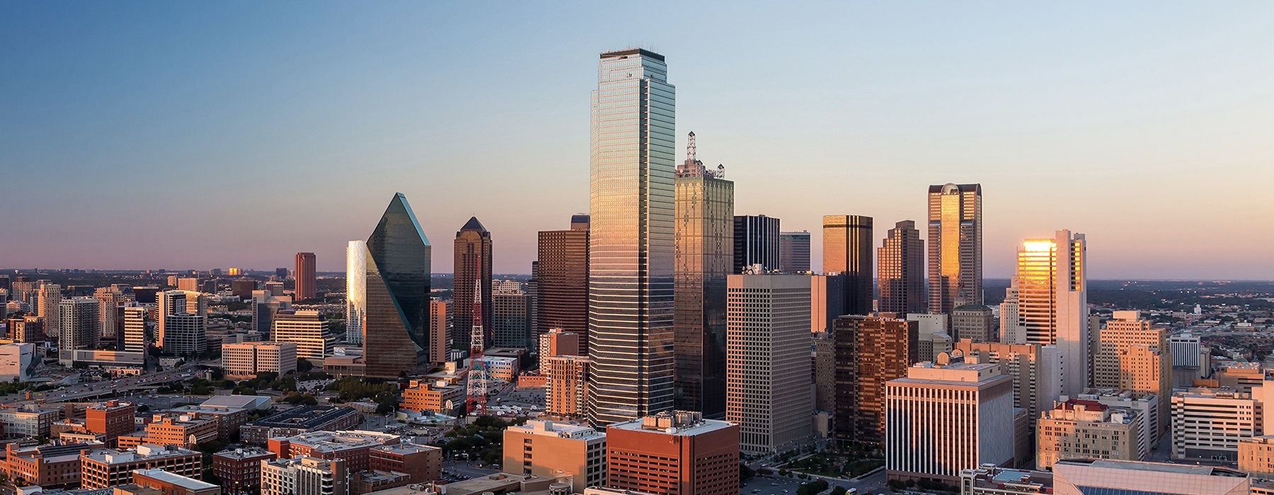 skyline image of downtown dallas texas